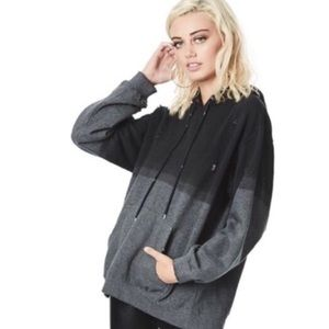 NWT🎈LF oversized distress two toned grey hoodie